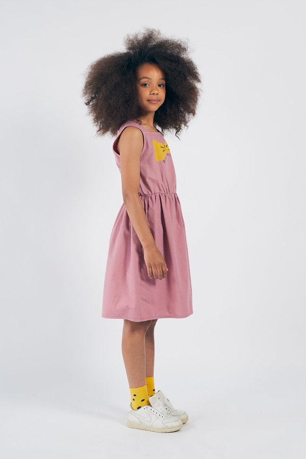 KIDS Bobo Choses Bow Woven Dress - PINK
