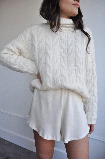 Lisa Says Gah Mia Lounge Set Shorts - Oat Milk