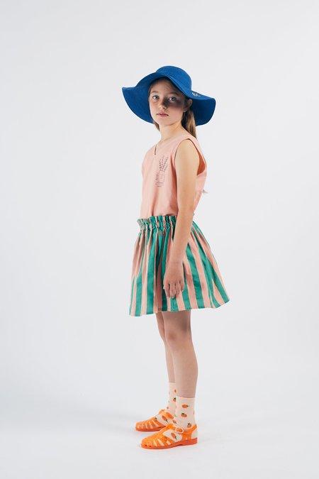 KIDS Bobo Choses Striped Flared Skirt - GREEN/PINK