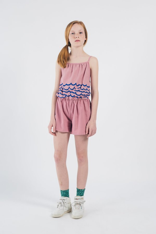 Kids Bobo Choses Waves Woven Playsuit - Pink