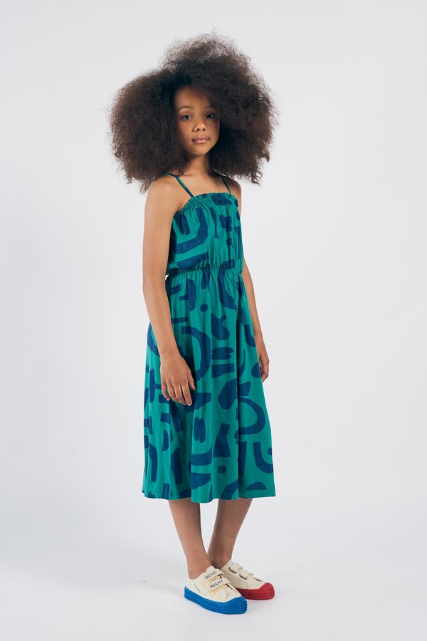 Kids Bobo Choses Abstract Jersey Dress - Green