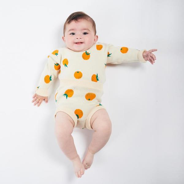 Kids Bobo Choses Knitted Bloomers Intarsia Oranges