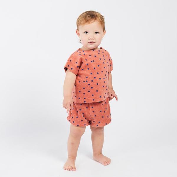 Kids Bobo Choses Short Sleeved Terry Sweatshirt - Dots Print