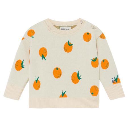 Kids Bobo Choses Sweater - Intarsia Oranges