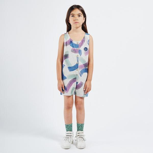 Kids Bobo Choses Sleeveless Romper - All Over Painted Print