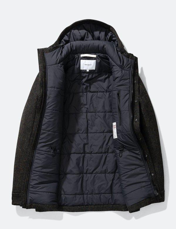 Norse Projects Nunk Harris Tweed Coat - Black Multi