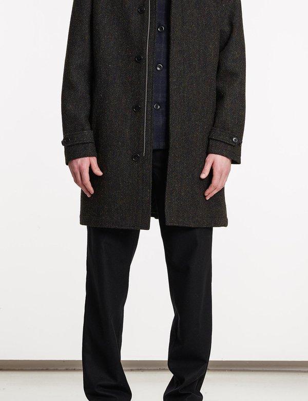 Norse Projects Svalbard Harris Tweed Coat - Black Multi