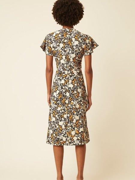 Great Plains Verbena Dress - Black Nectar