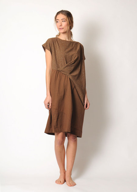 Uzi NYC Wave Dress - speckle brown