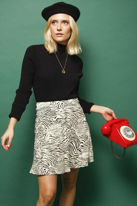 Capulet Tia Mini Skirt - Zebra Swirl