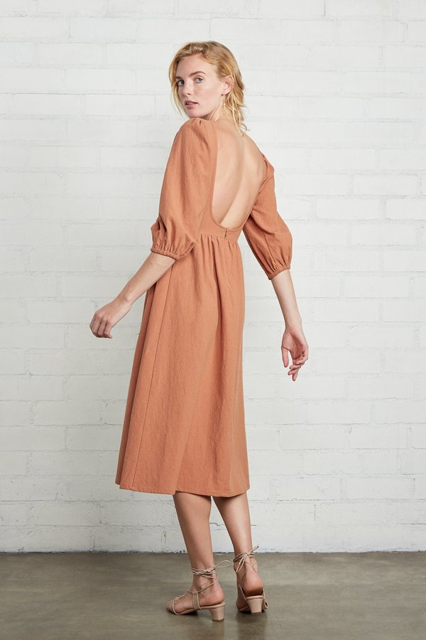 Rachel Pally Linen Canvas Roma Dress - Auburn