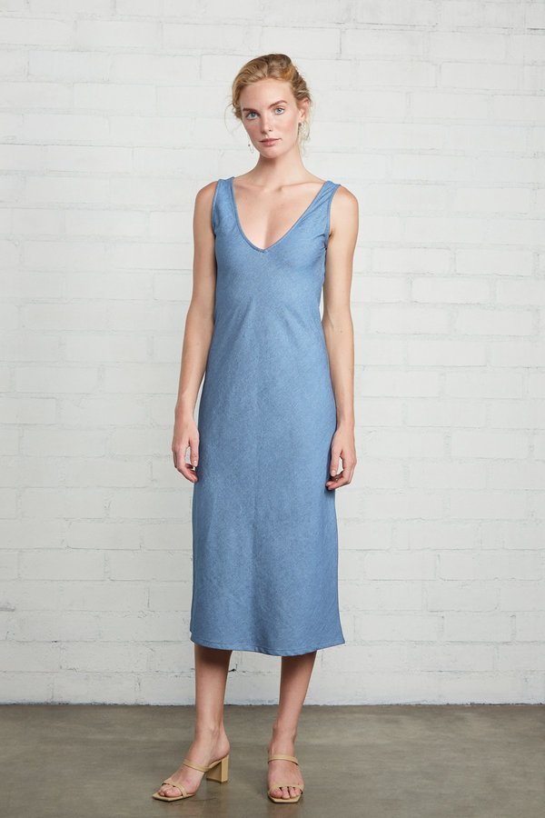 Rachel Pally Simona Dress - Stonewash Chambray