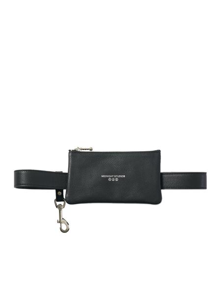Midnight Studios Leather Belt Pouch - Black