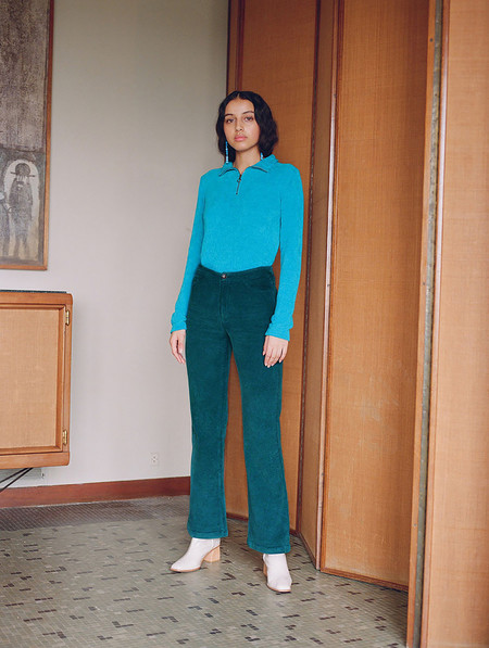Paloma Wool Milton Pants - Smoke Green