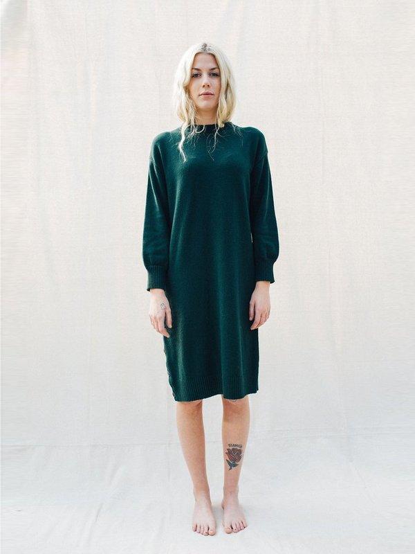 Micaela Greg Lou Sweater Dress - Forest Green