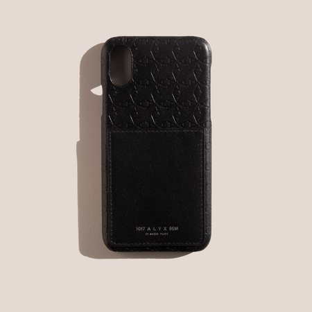 1017 ALYX 9SM Leather A Logo iPhone Case with Card Holder