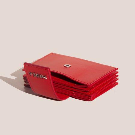 Medea Small Casino 5-Pocket Wallet - Red