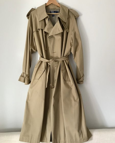 Vintage Polo by Ralph Lauren unisex Trench Coat - Tan
