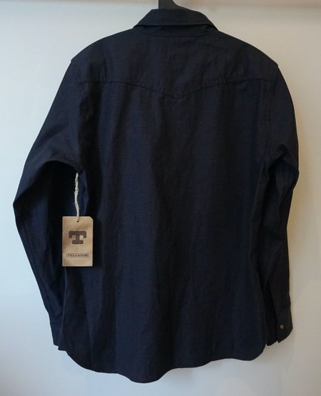 Tellason Topper Japanese Ripstop Shirt - Indigo