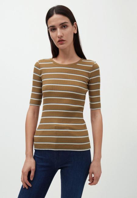 Armedangels Elsa Organic Cotton Rib Shirt - Golden Khaki