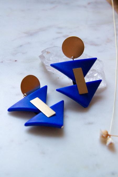 David Aubrey Inc with Acrylic Triangles Earrings