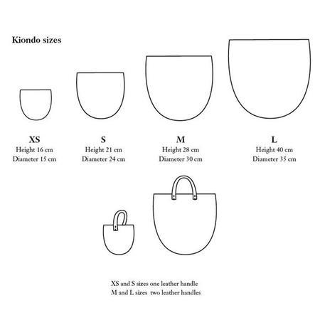 Mifuko Kiondo Basket With Leather Handles - White