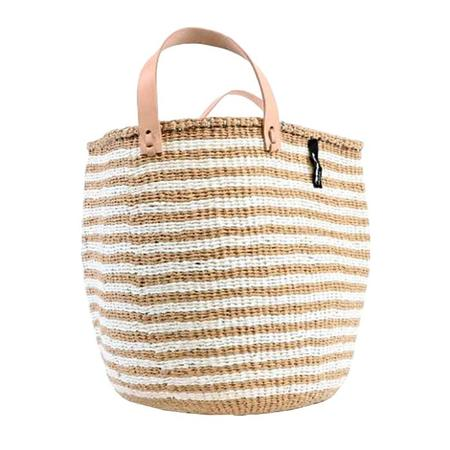 Mifuko Paper And Sisal Basket With Leather Handles