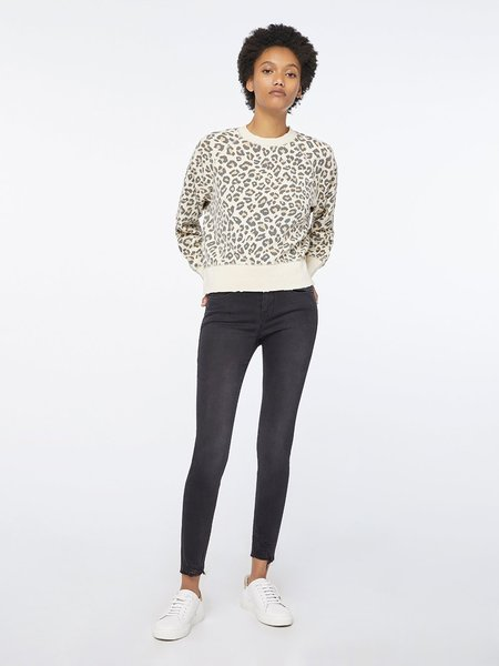 FRAME Denim Animal Print Sweatshirt - Caramel Multi