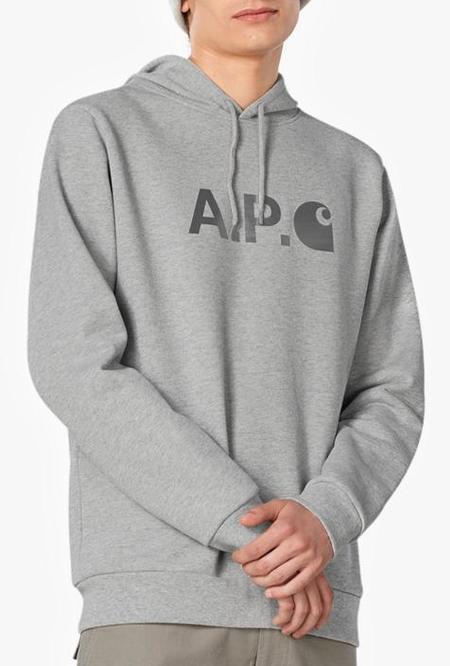 A.P.C. x Carhartt WIP Stash Hoodie - Heather Grey