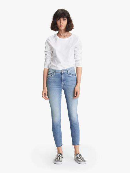 Mother Denim High Waisted Looker Ankle Fray Jean - Shoot to Thrill