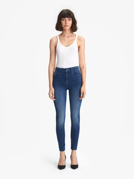 Mother Denim The High Waisted Looker Ankle Jean - The Road to Paradise