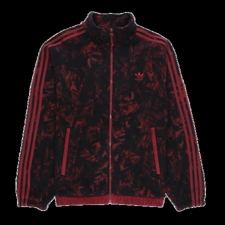 Adidas Polar Fleece Full-Zip Jacket - Collegiate Burgundy