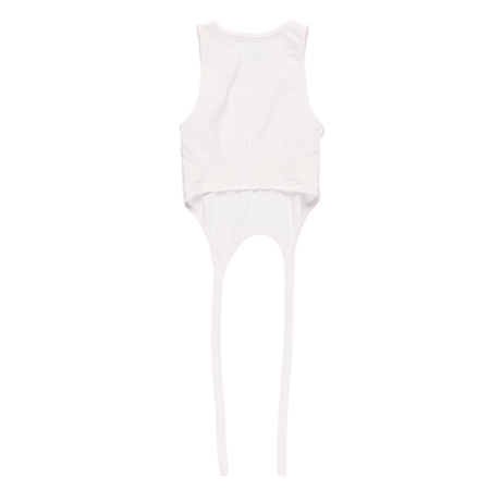 Helmut Lang Double Seamless Jersey Bra - Optic White