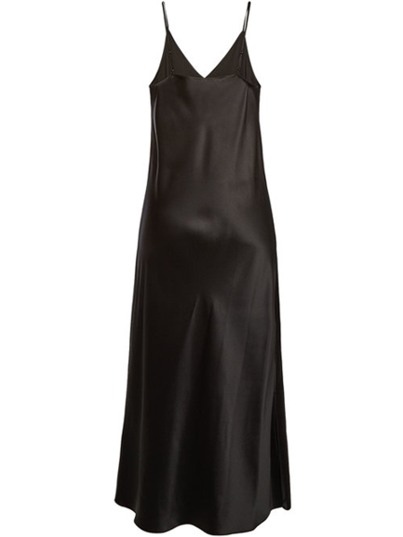 JOSEPH Clea Silk Satin Dress - Black