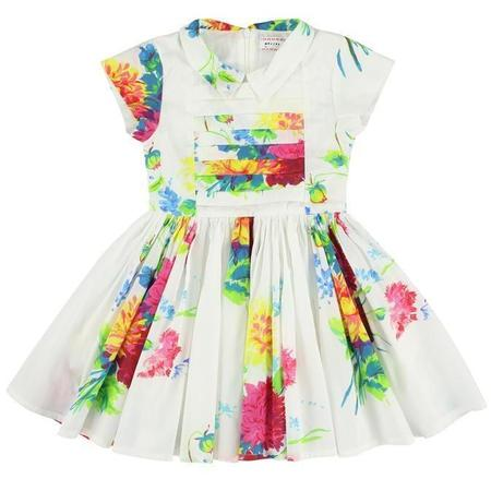 Kids Morley Lemia Big Flores Dress - White