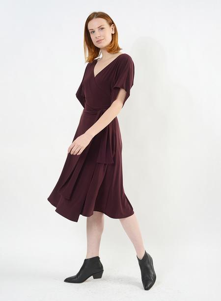 Meg Dolman Sleeve Wrap Dress - Porto