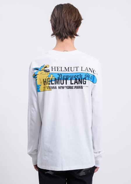 Helmut Lang Standard Radio Long Sleeve T-Shirt - Chalk White