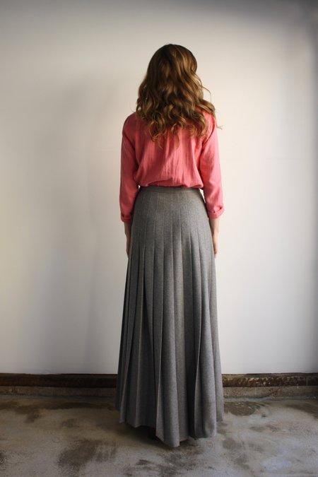 Vintage Valentino Wool Maxi Skirt - Heather Gray