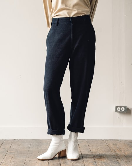 Olderbrother Washi Wool Pants - Dark Indigo