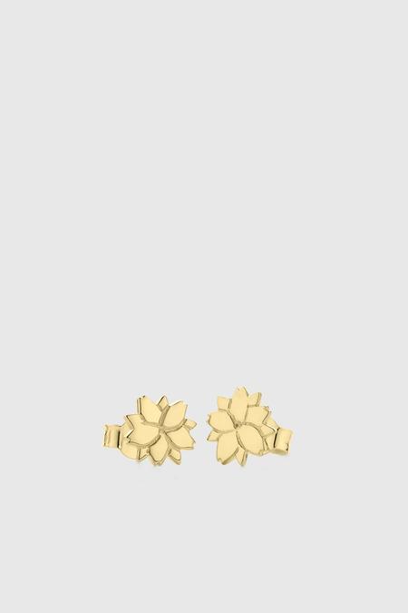 Meadowlark Cherry Blossom Stud Earrings - Gold Plated