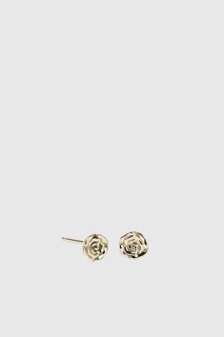 Meadowlark Rose Stud Earrings - Gold Plated