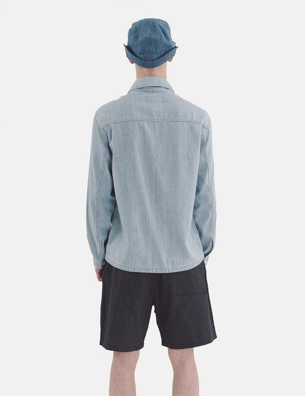 YMC Kit Denim Shirt - Indigo Bleach