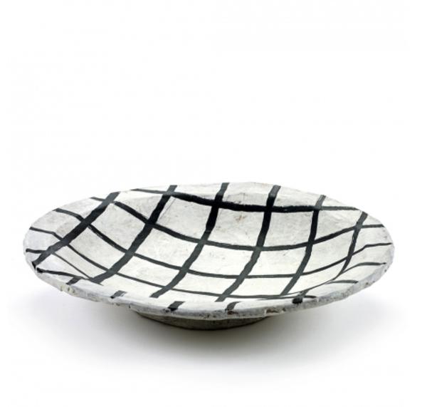 Serax Large Grid Pattern Papier Mache Plate - Large