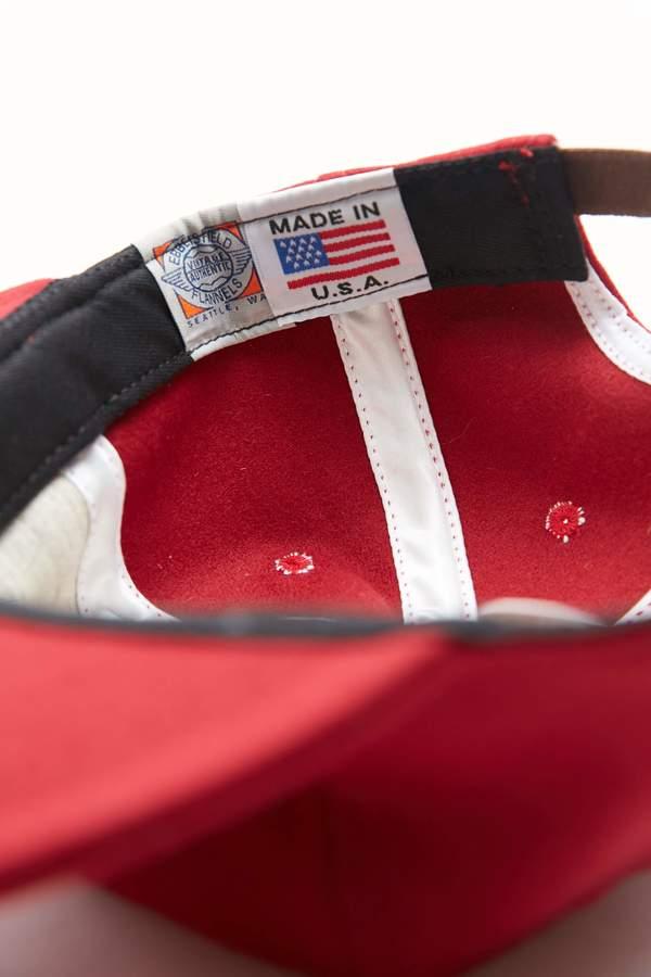 Ebbets Field Flannels Adjustable Wool Cap - Burgundy
