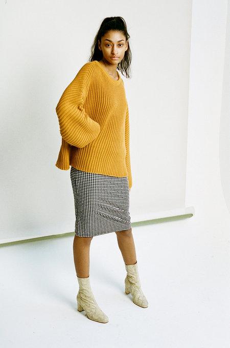 Baserange Kai Sweater - Okra