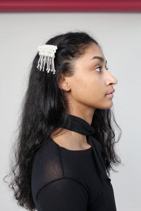 SHRIMPS Penelope Crystal Hairclip - white