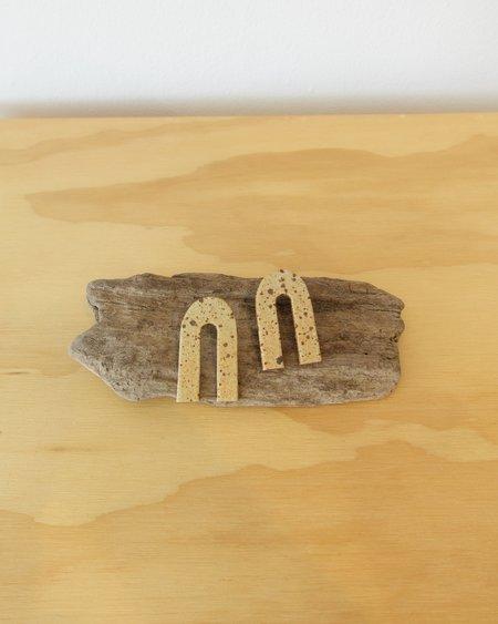 E Heid Ceramics Medium Arc Earrings - Tortoise Shell