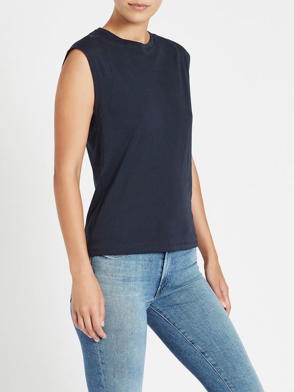 FRAME Denim Le Mid Rise Muscle Tank - Navy