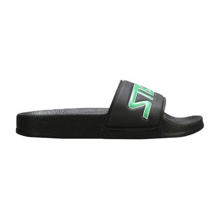 Kids Stella McCartney Logo Slider Sandals - Black