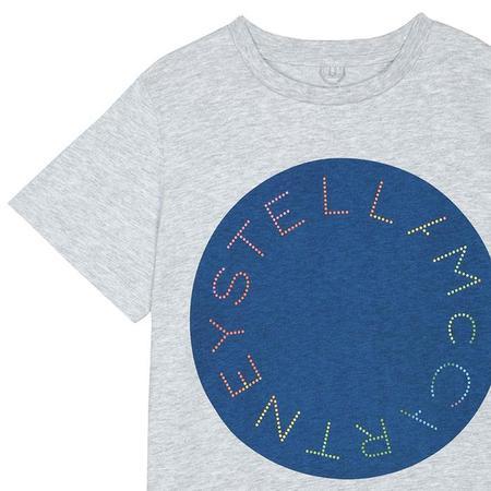 Kids Stella McCartney Child T-shirt - Grey/Circle Logo Print